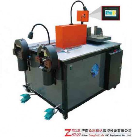 东莞双柱单泵站多功能铜排加工机